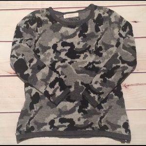 Zara Knit Sweater Size Small Camo Sweater